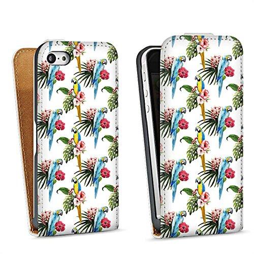 Apple iPhone SE Housse Outdoor Étui militaire Coque Perroquet Oiseau Été Sac Downflip blanc