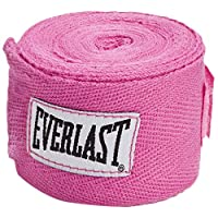 Everlast EVER-4455PNK Level 1 Woven Cotton Boxing Hand Wraps - 108 Inches