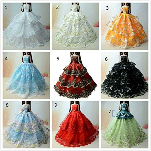 t Kleidung Prinzessinnen Kleider Für Barbie Puppe/Spitzekleid / Puppenzubehör Dress Up (4er Set) (Tinkerbell Kostüm Hund)