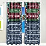 CUMIMI europea roulette da tavolo tende oscuranti oscurante termico isolante poliestere tenda a occhielli, per camera da letto, soggiorno,2pannelli 55W x 84L inch