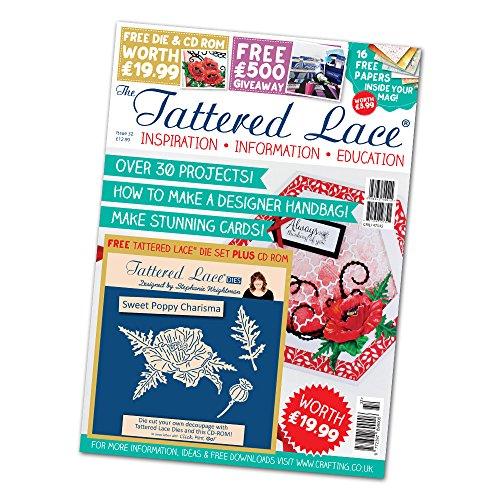 Tattered Lace Magazin Ausgabe 32mit gratis Charisma Sweet Poppy sterben + CD-ROM & kostenloser 1st Class Post. (Magazin Sweets)