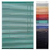 1PLUS Aluminium Fenster Jalousie mit 220 cm Länge in versch. Breiten & Farben (mint, 80x220 cm)