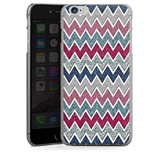 Apple iPhone X Silikon Hülle Case Schutzhülle Zickzack Muster Fein Hard Case anthrazit-klar