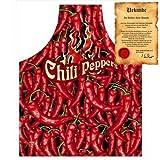 Itati Grill und Kochschürze: Chili Peppers Einheitsgröße mit einer GRATIS Urkunde