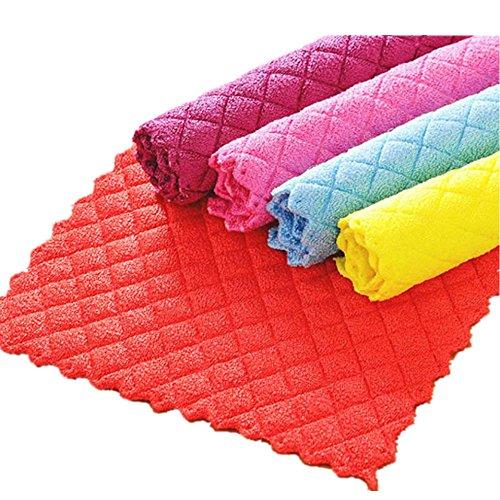zycshang Hocheffiziente frei von Fusseln Anti-Fett Farbe Gericht Reinigungstuch Bambus Fasern Waschen Handtuch Magic Küche Reinigung Wischen Hadern (Kollektion Mini-leinwand-tasche)