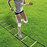 GHB Sport Trainingsleiter Dauerhafte Fußball Koordinationsleiter 6m mit Tasche