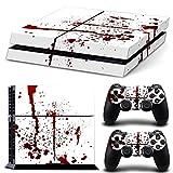 DOTBUY PS4 Skin Aufkleber Sticker Design Folie schützende Haut Schale für Sony Playstation 4 Konsole und 2 Dualshock Controller (Blood)