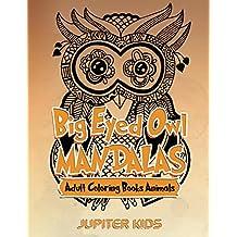 Big Eyed Owl Mandalas: Adult Coloring Books Animals