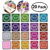 Encre Tampons Empreinte Multicolores pour Enfants DIY, 20pcs