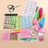 yurroad 19pcs papel Quilling Tiras de papel Kit de herramientas DIY juego de herramientas