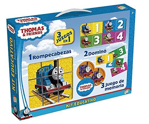 Thomas und Seine Freunde-Pädagogischer Kit mit Puzzle, Spiel- und Domino (Cefatoys 88242) (Kit Domino-spiel)