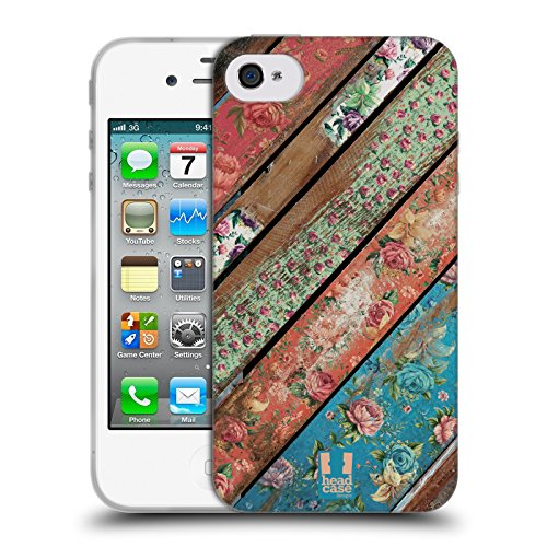 Head Case Designs Bretter Blumige Ruine Soft Gel Hülle für Apple iPhone 5 / 5s / SE Grunge
