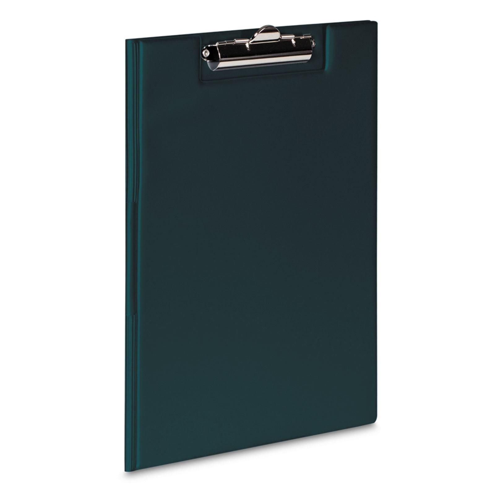 Nero A4Clipboard Solid PVC Board documento portapenne documenti con tasca trasparente custodia fold