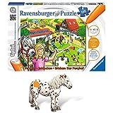 Ravensburger tiptoi® 2-teiliges Set 00518 00372 Puzzeln, Entdecken, Erleben: Der Ponyhof + Tierfigur: Appaloosa Pony