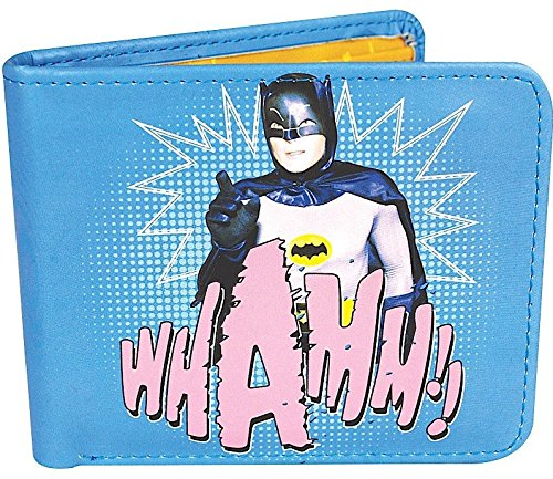 Batman Kinder-portemonnaies (Batman Geldbeutel DC Style 1966 Whamm!! Geldbörse Portemonnaie Brieftasche bi-fold wallet)