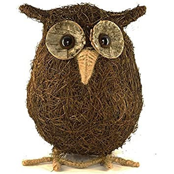 Ozzie The Owl Coco Husk Garden Ornament Natural And Sustainable:  Amazon.co.uk: Kitchen U0026 Home