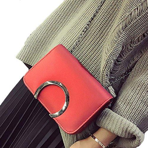 KYFW Womens Kleine Quadratische Tasche Mode Handtasche Kette Messenger Paket Wild Paket Umhängetasche C
