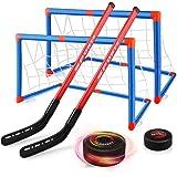 Baztoy Juguete de Hockey Flotante,Pelota de Hockey AéREO Juguetes para Niños 3 4 5 6 7 8 9 10 11 12 Años, Juego Hockey con 2