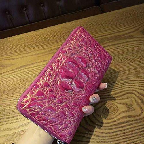 CROCUST Lusso Coccodrillo Donne Borsa di Pelle Vera di Coccodrillo Clutch Bag Classico Casual Portafogli Colorate