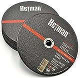 HETMAN dischi da taglio flessibile in acciaio inox 230 x 2,0 mm (25 Pezzi), disco abrasivi per smerigliatrice angolare per metallo