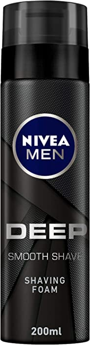 NIVEA, MEN, Shaving Foam, Deep, 200ml