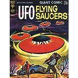 Comic Book Cover UFO Flying Saucers Alien Sci FI Fine Art Print AFICHE Cartel Imprimir Poster Cómic Libro Cubrir Volador Extraterrestre Lámina Póster