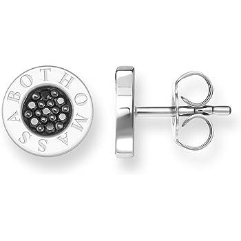 d9b3e783b Thomas Sabo Women Silver Stud Earrings - H1848-643-11: Amazon.co.uk ...