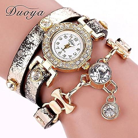Catena Nusey (TM) 77 moda di New lusso in pelle braccialetto da polso orologi di vestito dalle donne del vestito da modo lungo casuale orologio da polso