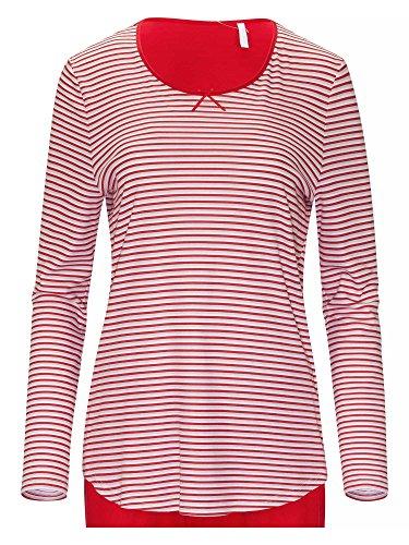 RÖSCH Femmes Pyjama 1163707 100 % coton Wellness loungewear Rouge