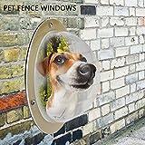 AOLVO Hund Zaun, Bullauge, robustem Acryl, Haustier Hund Katze Zaun Fenster Peek Bubble, XL Größe Hund Dome klare Sicht Pet Peek Fenster Lösung für weniger Hund bellt verhindert Zaun Springen Graben Happy Nachbarn
