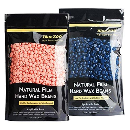 Sharplace 2 Pack 250g Haricots de Cire à Epilation Epiler Poils des Aisselles Zone Bikini ou du Corps sans Bande sans Douleur Hard Wax Beans sans Allergie