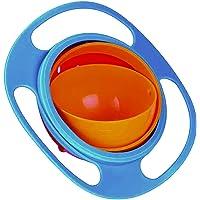 DeoDap Portable Non Spill Feeding Toddler Gyro Bowl 360 Degree Rotating Dish