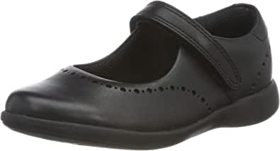 Black Leather Black Leather 33 EU Clarks Scala Skip K Noir Ballerines Fille