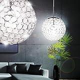 Hochwertige Pendel Decken Leuchte Hänge Kristall Kugel im Set inklusive LED Leuchtmittel