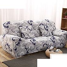 Slipcover elástico estampado floral,Todos La cubierta del sofá Tela Cojines de sofá Intercambiable Combinación Toalla de sofá Protector de los muebles para 1 2 3 4 cojines sofá-P sofás de dos plazas