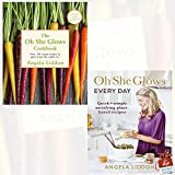 Oh She Glows and Oh She Glows Every Day 2 Books Collection Set By Angela Liddon With Gift Journal