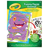 Crayola Funny Faces Colouring Book (With Stickers)