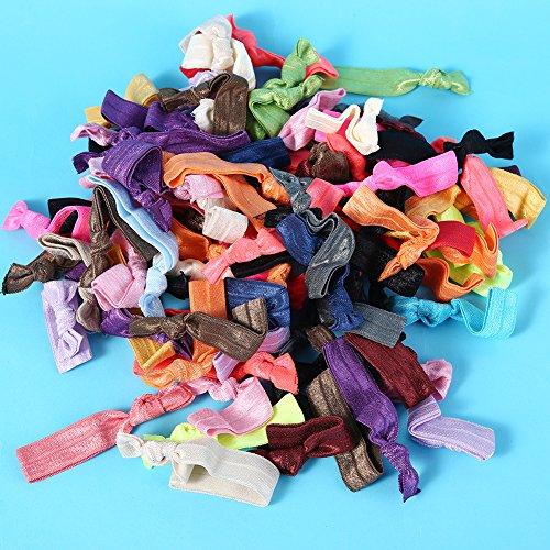 100pcs nastro legami dei capelli elastici per capelli accessori per le donne catena da polso decorazione