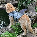 TYJY Hund Schwimmweste Sommer Haustier Hund Schwimmweste Sicherheit Sommer Hundekleidung Niedlichen Meerjungfrau Shark Dog Kostüm S/M / L
