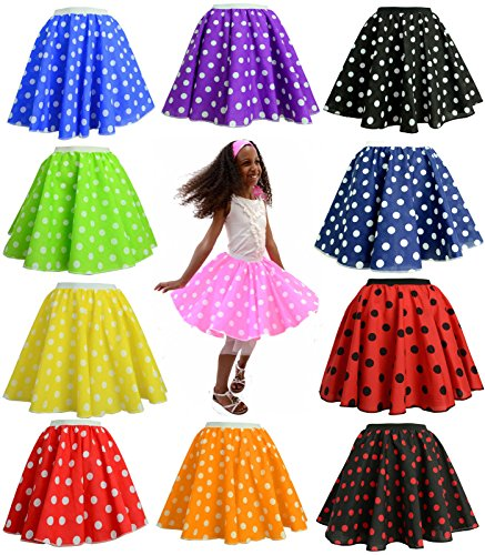 Children's Polka Dot Skirt Rock n Roll 50's/ 60's Style