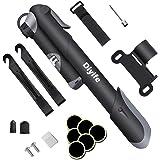 Bomba Para Bicicleta Con Manómetro, [120 PSI] Diyife Mini Bomba De Bicicleta [Set Completo Perfecto], Con Aguja, Kit De Parch