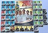 REWE DFB EM 2016 - Komplettset 36 Karten Glitzer Deutsche Nationalmannschaft + Sammelmappe