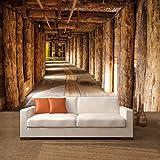 Papier peint bois cuisine maison for 3d tapete esszimmer