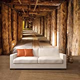 Salt mine papier peint photo 366 x 254 cm tronc deco.deals salzmine soutes bois