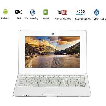 G-Anica® Netbook, computer portatile, ultrabook Android 5.0HDMI, schermo da 10'' (WiFi-SD-MMC) bianco bianco 10 pollici