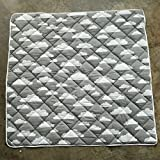 Square 1.2M Grey Cloud Pattern Cotton Kids Teepee Play Tent Mat by Wonder Space