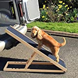 GBWHL Rampa di Sicurezza Pet Dog Altezza rampa Regolabili Antiscivolo per i Viaggi Cane scaletta di Legno Gatto,A