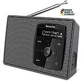 TechniSat Digitradio 2 Tragbares DAB+/UKW-Radio (mit Bluetooth Audiostreaming, Weckfunktion, und hochwertigem OLED Display)