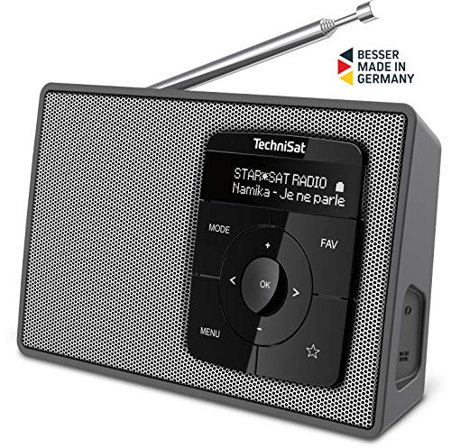TechniSat DIGITRADIO 2 - Tragbares DAB+/UKW-Radio mit Bluetooth Audiostreaming, Weckfunktion, und hochwertigem OLED Display - Made in Germany
