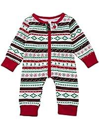 Navidad Bebe Pijamas Ropa SMARTLADY Recién nacido Bebé Niño Monos de Manga larga
